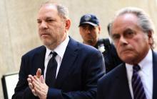 Harvey Weinstein a su ingreso a una corte en Manhattan.