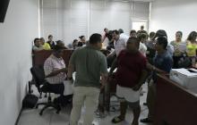 Aspecto de la sala de audiencias donde se realizaron diligencias preliminares.