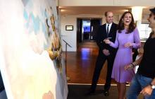 Pintor colombiano le saca una carcajada a los duques de Inglaterra