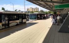 Transmetro desvía rutas por bloqueos en Villa Sol, en Soledad