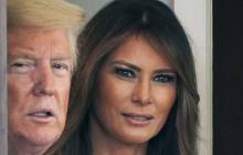Donald Trump y su esposa, Melania.
