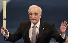 El cineasta estadounidense Martin Scorsese al recibir el premio.