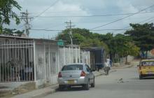 Sector del barrio El Bosque donde fue asesinado Alberto Rafael Peláez Olivares.