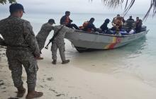 Armada Nacional rescata a migrantes irregulares en cercanías a San Andrés