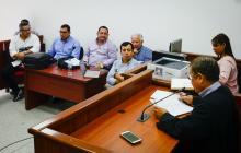 Aspecto de la audiencia realizada este lunes en el Centro de Servicios Judiciales