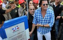 Carlos Vives coloca la primera piedra del parque La Provincia en Valledupar