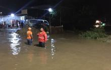 Desbordamientos del río Manzanares en Santa Marta.