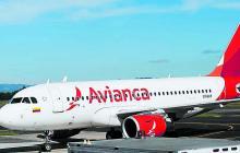 Un avión Airbus que hace parte de la flota de la aerolínea Avianca.