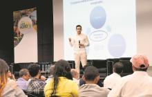 Luis Alberto Rodríguez, viceministro técnico de Hacienda durante su intervención.