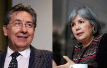 Néstor Martínez, fiscal general, y Patricia Linares, presidente de la JEP.