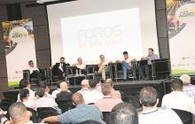 De izquierda a derecha:  Iván D. Gómez, Harold Correa, Carlos Bernal, Amilkar Acosta, Carlos E. Campo y Nicolás Gómez.
