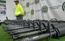 Las armas decomisadas en los allanamientos.