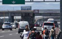 En video |  Unos 2.000 migrantes centroamericanos ya están en Ciudad de México