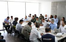 Aspecto del comité de seguridad llevado a cabo en la ciudad.