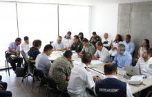 Aspecto del consejo de seguridad realizado ayer en la ciudad de Cartagena.