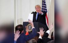 Casa Blanca retira credencial a periodista de CNN que sostuvo tenso intercambio con Trump