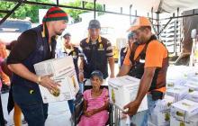 Entregan  5.431 ayudas a los afectados por invierno en Santa Marta