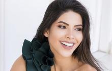 La señorita Bolívar 2018 Laura Olascuaga y exvirreina Nacional de Belleza.