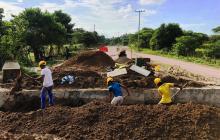 Vía que une a Villa Rosa, en Atlántico, y San Estanislao, en Bolívar, avanza en 25 %