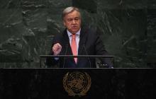 Antonio Guterres, Secretario General de las Naciones Unidas.