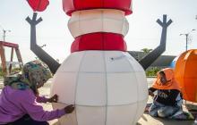 Dañan figuras navideñas instaladas en el Gran Malecón