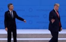 En video | Otra más de Trump en el G20: hace un desplante a Macri en el escenario