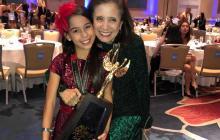 Miranda Torres en compañía de Julie de Donado, su mentora en la danza.