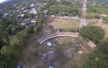Vista aérea de la corraleja de Juan de Acosta.