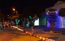 El alumbrado navideño en Sahagún quedó a medias