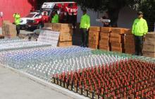En video | Incautan más de una tonelada de pólvora, licor y cigarrillos en El Boliche