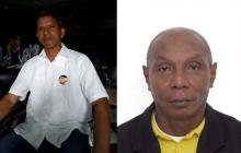 Luis Cuarto Barrios Machado, líder social baleado este año y Bernardo Cuero Bravo, líder asesinado en 2017.