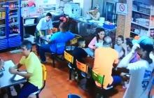En video   Así fue el atraco a un restaurante de comidas rápidas en Cartagena