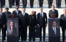 Ceremonia en Puebla en honor a la gobernadora Martha Erika Alonso y el senador Rafael Moreno.