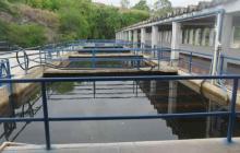 Aspecto de la planta de tratamiento del acueducto de Santa Marta.