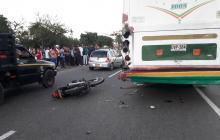 Accidente de tránsito en la vía Galapa – Barranquilla deja un muerto y un herido
