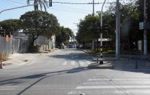 Vista de la calle 50 entre carreras 45 y 46.
