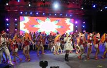 La Banda de Baranoa se presentó en el atrio de la iglesia Santa Ana con un espectáculo de teatro musical.