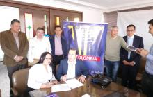 En Bogotá se efectuó la firma para una nueva explotación de una lotería en Sucre.