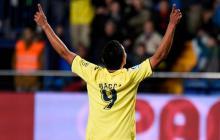 Carlos Bacca celebrando el gol que le dio el empate al Villarreal ante el Espanyol.
