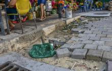 Comunidad se queja por huecos y óxido en obras del Centro