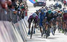 Ciclistas durante una carrera.