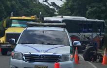 Seis heridos en accidente de bus intermunicipal entre Palomino y Riohacha