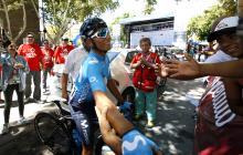 Nairo Quintana corriendo en la Vuelta a San Juan.