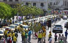 Taxistas en Cartagena protestaron por decreto de pico y placa