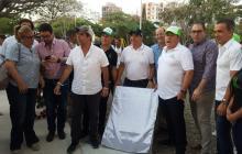 El alcalde Alejandro Char en compañía de varios de sus funcionarios, reinauguró el espacio recreativo y deportivo.