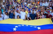 Concentración de venezolanos en Barranquilla.