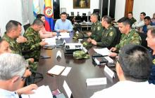 El alcalde Rafael Martínez presidió el Consejo de Seguridad, realizado ayer en su despacho.