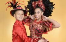 Cesar De la Hoz e Isabella Chacón, reyes del Carnaval de los Niños 2019.