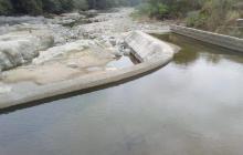 Baja nivel del caudal en el río Tapia por el fenómeno del niño
