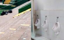 Hinchas de La Calera limpian los baños tras eliminar al Chapecoense de la Sudamericana
